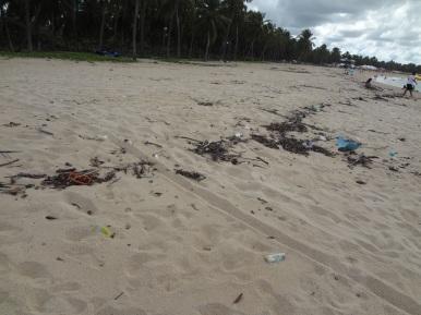 Sujeira na areia